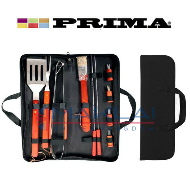 11pc BBQ TOOL SET with Carry Bag Grill Barbecue Cooking Utensil Portable Case