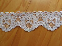 """Sewing Trim Slip Lingerie Elastic Lace 1 7/8"""" Wide Lilac Polyester 8 Yards"""