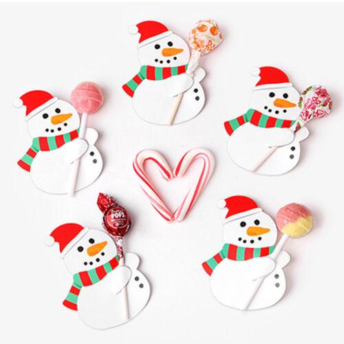 50x Santa Claus Candy Decor Lollipop Christmas Card Lolly Sugar-Loaf Xmas Toy