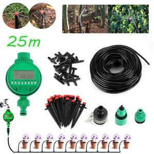 25 m À faire soi-même Micro Drip Water Irrigation Kit Système d/'irrigation arrosage