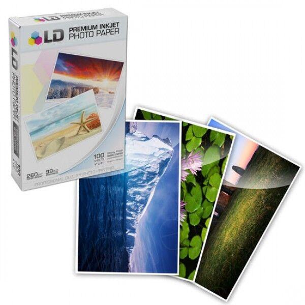 Ld Glossy Inkjet Photo Sticker Paper 85x11 100 Pack Ld