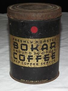VINTAGE-FRESHLY-ROASTED-BOKAR-COFFEE-TIN-CAN-EMPTY