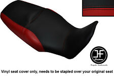 BLACK & DARK RED VINYL CUSTOM FOR HONDA XL 1000 V VARADERO 08-13 DUAL SEAT COVER