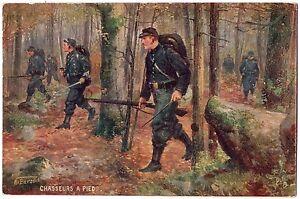CPA-Militaria-TUCK-034-Oilette-034-Chasseurs-a-Pied-Les-Armes-Francaises-serie-981
