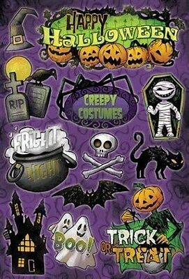 Karen Foster FRIGHT NIGHT Cardstock Stickers Scrapbook