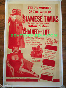 CHAINED-FOR-LIFE-MOVIE-POSTER-SIDESHOW-CIRCUS-FREAKS-FILM-HORROR-GORE-chaney