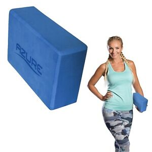 Blau-Yoga-Block-Foam-Pilates-Brick-Gym-Stretch-Ubung-Hilfe-mit-abgeschraegten-Kanten