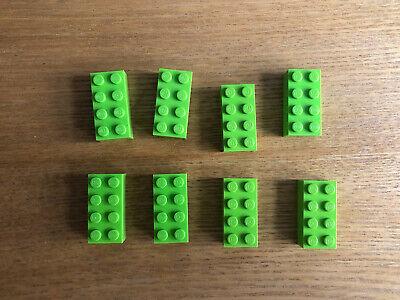 LEGO X  9 BROWN BRICKS 2 X 4  Item no 3001 VGC