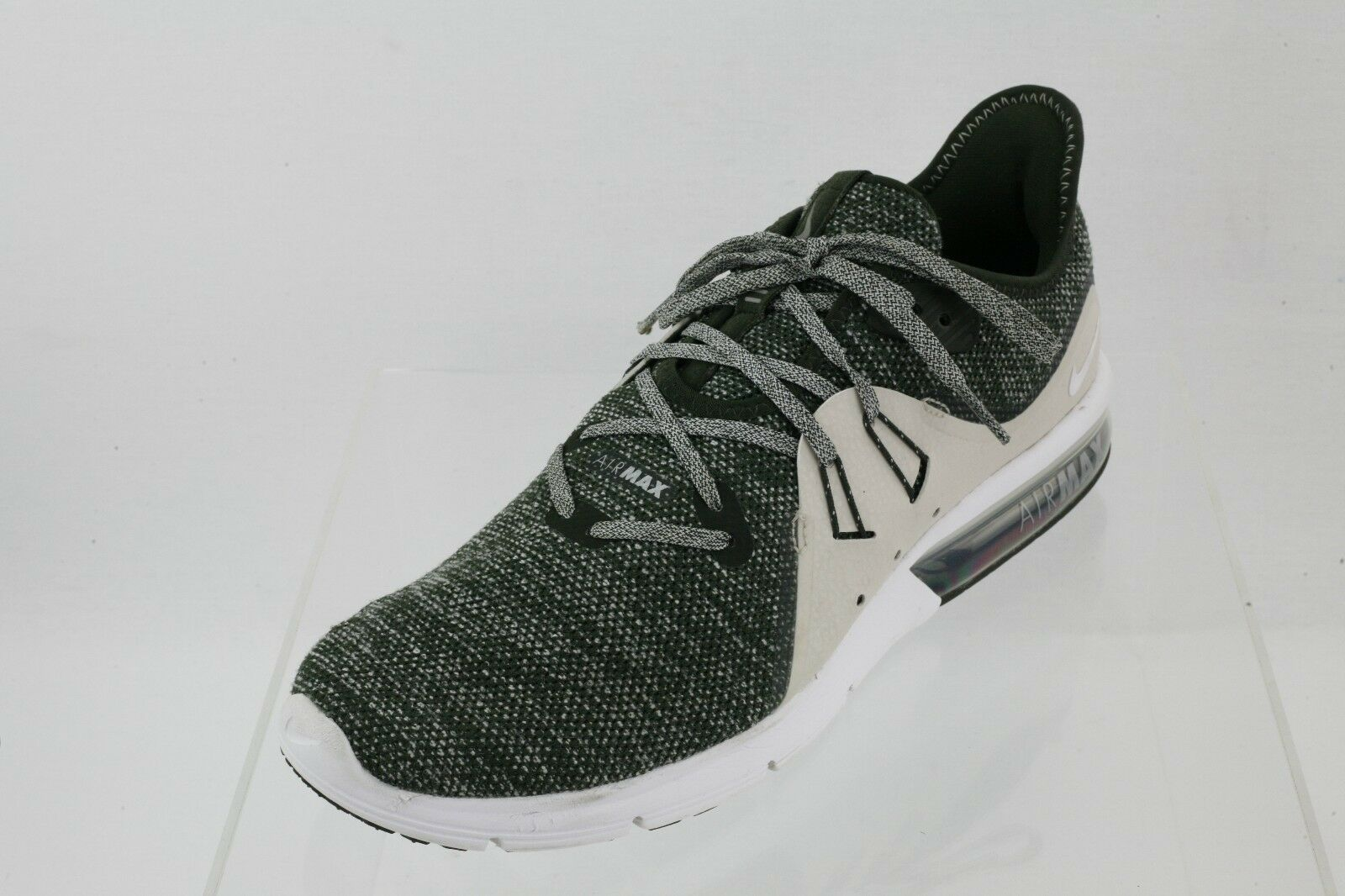 Men's Nike 921694-300 Air Max Sequent 3 Grey Lace-up Running Shoes Size 11 M