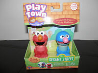 Learning Curve Toys Play Town Sesame Street Licensed Figures Grover / Elmo 2 Pack Toys