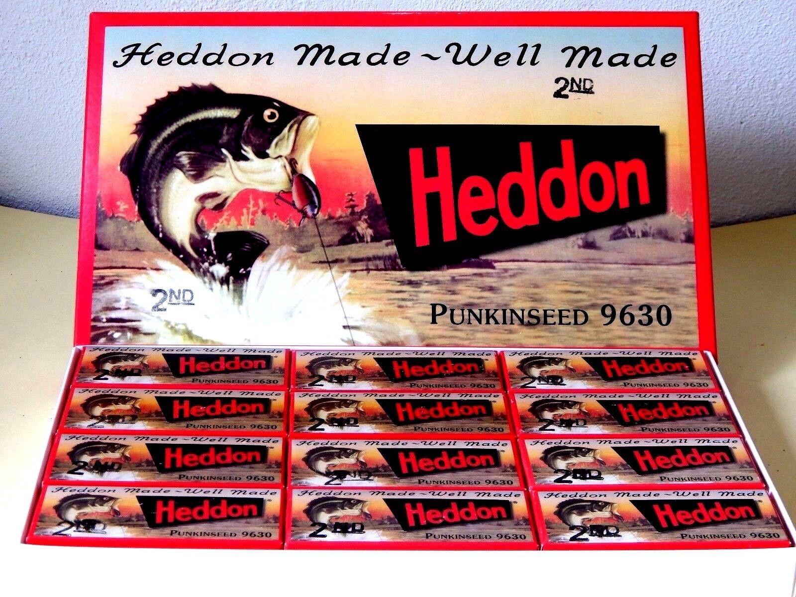 Heddon punkinseed 9630 2nd -- Limited 2005 06 Reissue en cartón maestro (B) - Nuevo En Caja