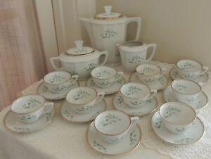 Vintage-Richard-Ginori-NC-Porcelain-25-Piece-Demitasse-Coffee-Service-for-10