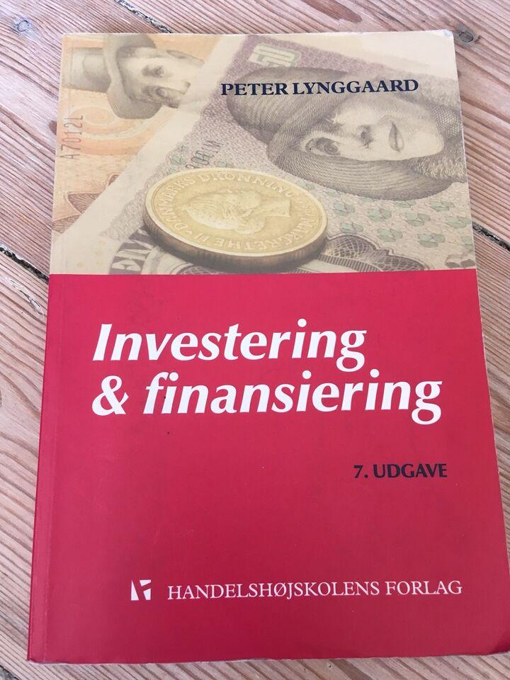 Investering & finansiering, Peter Lynggaard, emne: