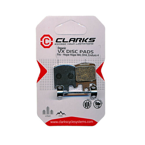 Hope M4//DH4//Enduro 4 Organic Disc Brake Pads-Clarks