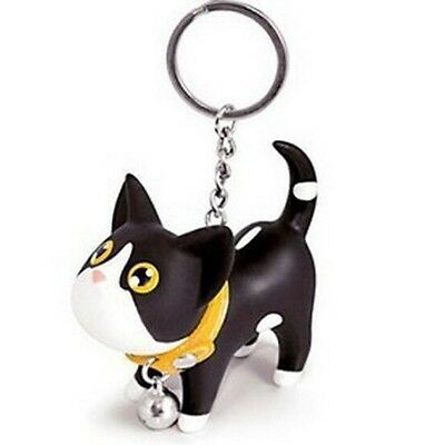 FD760 Sweet Cat Kitten  Keyring Keychain Bell Gift Toy Car Ring Key Chain ~1pc~#