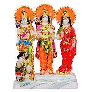 "NUOVO Lord RAM Darbar parivar sita LAXMAN Hanuman Idol Statua Figurina regalo 10"""