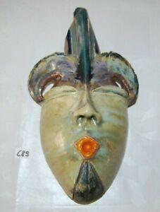 C89 Ancien Masque Africain En Terre Cuite ? Ou Autre - Objet Tribal Ethnique Top PastèQues