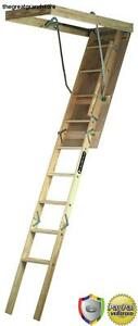 Ladder Fits Wood Attic Stairs 7 8 9 Quot Ceiling Storage Loft