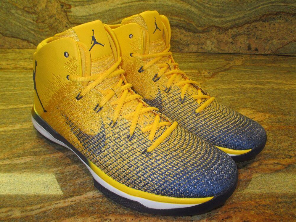 Inédit Nike Air Jordan XXX1 Promo Échantillon Taille 14 Californie Doré Ours Pe