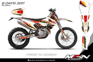 KTM EXC 2017 6 Days Six days Graphic Kit Decal Kit Sticker Kit