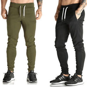 Image is loading MENS-SKINNY-JOGGING-BOTTOMS-SLIM-FIT-JOGGERS-TRACKSUIT- 3df0d32cb67