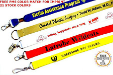 """100 PCS Custom Lanyards 3/4"""" Polyester w/your logo/message--1-color IMPRINT"""