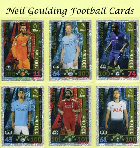 MATCH ATTAX 2018-2019 ☆☆☆ 100 CLUB XI ☆☆☆ Football Trading Cards #445 to #455