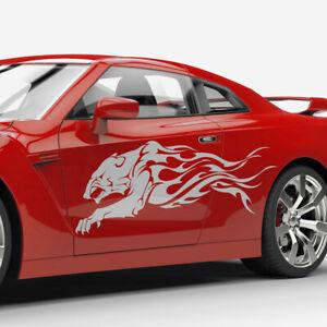Auto-Aufkleber-Raubtier-Jaguar-Puma-Panther-Abstrakt-Flammen-Tribal-Dekor-1373