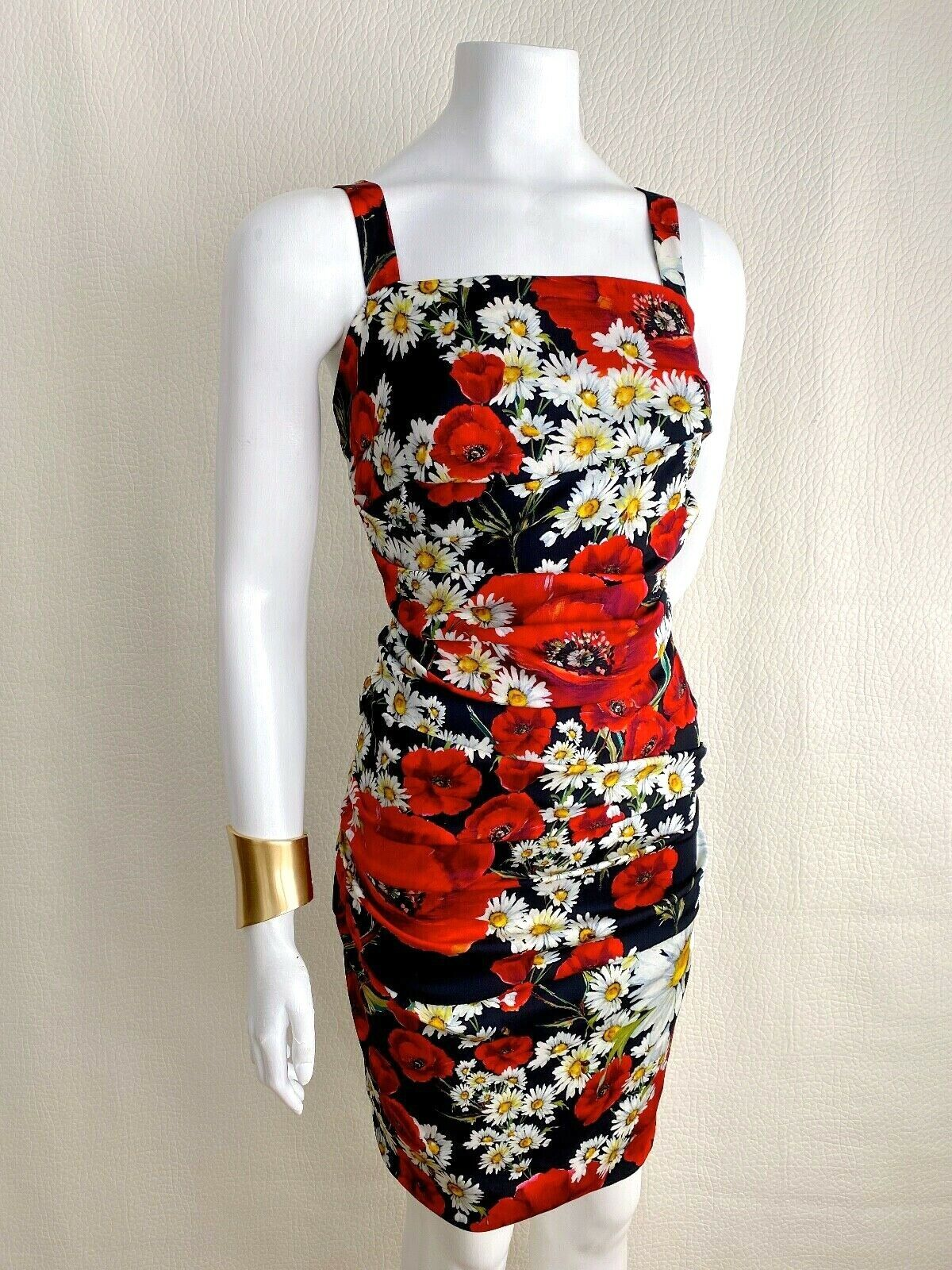 Amazing Dolce & Gabbana Draped Floral Print Silk Dress, Immaculate condition!!