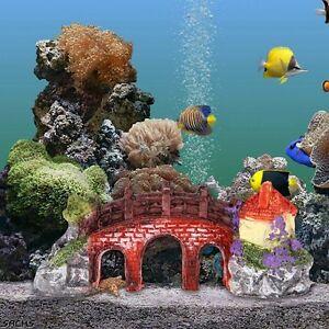Aquarium bridge house decorations tree fish tank ornaments for Aquarium bridge decoration