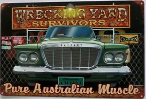 CLASSIC-VALIANT-WRECKING-YARD-SURVIVORS-ALL-WEATHER-TIN-SIGN-450X300