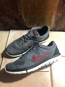 b8c07afe2d0cb Nike Mens Gray Maroon Flex Run Running Shoes Size 10.5 709022-002