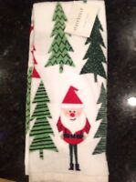 Storehouse Kitchen Tea Towels (2) Santa And Trees