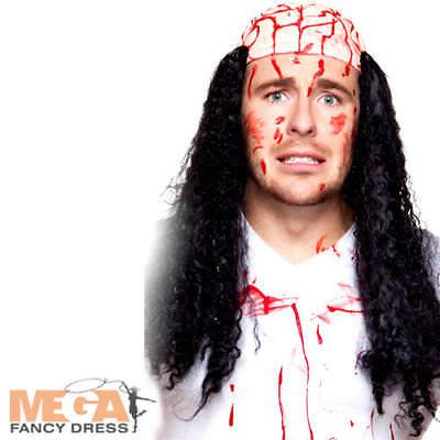 Sensibile Cervello Insanguinato Parrucca Con Capelli Adulti Costume Zombie Halloween Costume Accessorio-mostra Il Titolo Originale