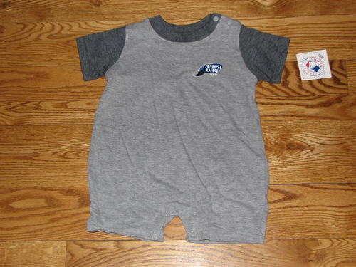 NEW Tampa Bay Devil Rays Romper Creeper Size 12M 12 Mo Baby Boys Girls Bodysuit