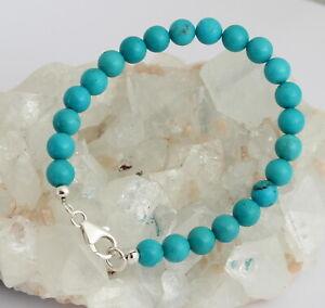 Real Turquoise Bracelet Arizona/Sleeping Beauty Ball Noble Nature Pretty ca.19,