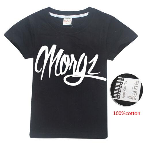 MGZ TEAM MORGZ Youtuber Vlogger Prank Gift Funny Kids 100/% Cotton T-Shirt New