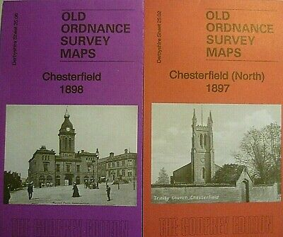 OLD ORDNANCE SURVEY MAP CHESTERFIELD NORTH 1897 STONEGRAVELS NEWBOLD