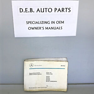Mercedes Benz Parts Catalog >> Details About 1993 Mercedes Benz 300se 400se 500sel 600sel Turbodiesel Parts Catalog Manual