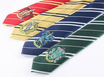 Ravenclaw Slytherin Gryffindor Hufflepuff Sorting Silk Harry Potter Tie Cosplay
