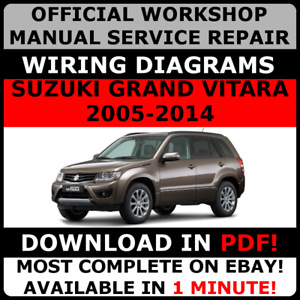 OFFICIAL-WORKSHOP-Service-Repair-MANUAL-for-SUZUKI-GRAND-VITARA-2005-2014