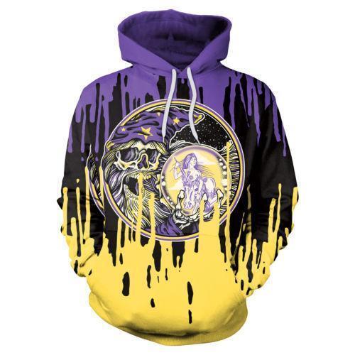 Halloween Men Womens Hoodie Sweatshirt Tie-Dye Graphic 3d Print Punk Sweater Top
