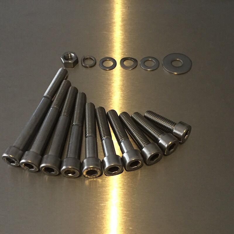 M8 25mm-80mm DIN 912 und und und Zubehör 700 Teile Edelstahl V2A Zylinderschrauben ISK 64a3b0