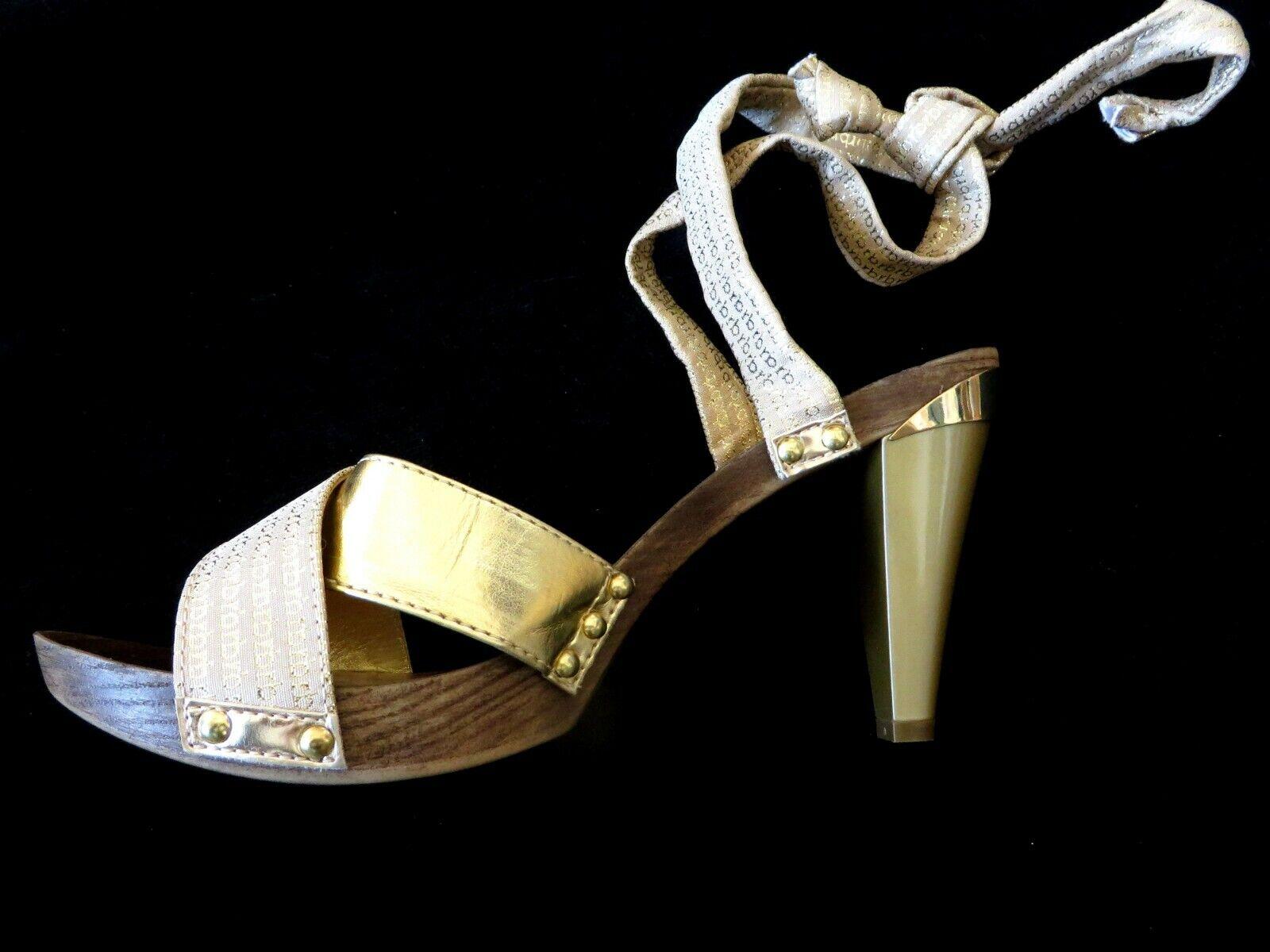 risparmia fino al 70% di sconto RB MADE IN ITALY ITALIAN Designer Colore oro oro oro Metallico in Pelle Sandali Scarpe 40  risparmia il 35% - 70% di sconto
