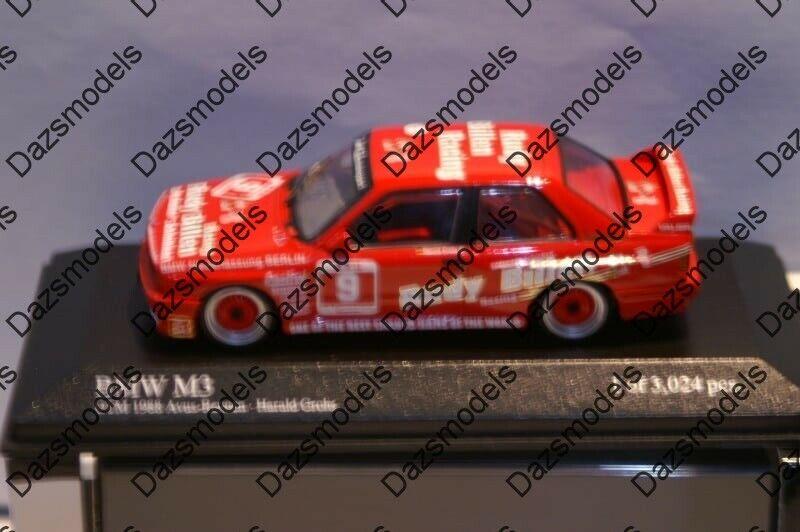 Minichamps BMW M3 DTM 1988  H.Grohs 1 43 430882009  nous offrons diverses marques célèbres