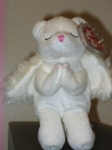 Ty Beanie Baby ~ BLESSED the Angel Bear (6 Inch) MWMT 8421400102  2b553dbda6a
