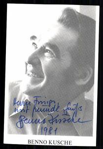 Benno Kusche Autogrammkarte Original Signiert ## BC G 9895 - Niederlauer, Deutschland - Benno Kusche Autogrammkarte Original Signiert ## BC G 9895 - Niederlauer, Deutschland