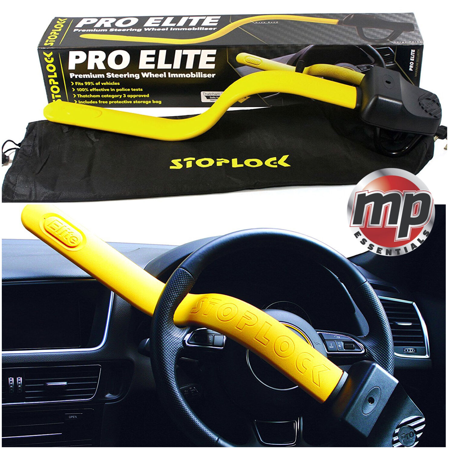 Fiat Ducato Stoplock Pro Steering Wheel Lock Professional Steering Clamp
