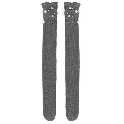 "Women Ultra-thin Elastic Net Mesh Pearl Sheer Silk Stocking Lace Ankle Socks 18/"""