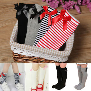 064d80367 Hot Baby Girl Toddler Kids Knee High Length Cotton Socks Bow Lace ...
